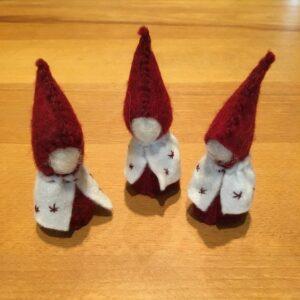 Filcový vánoční skřítek