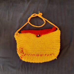 Háčkovaný kabelka na rameno
